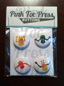 Finger Monster Buttons